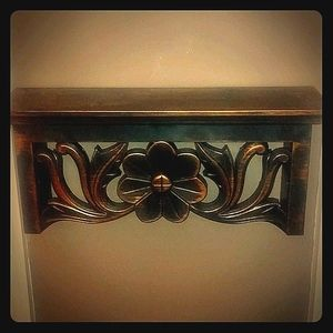 Vintage Look Bronze Decorative Wall Shelf